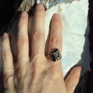 Vintage Jewelry - Real Diamond Art Deco Vintage Ring JED 925